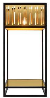 Casa Padrino Luxus Tischleuchte mit schwarz pulverbeschichteten Rahmen - Hotel Kollektion