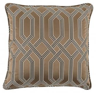 Casa Padrino Designer Kissen Braun 60 x 60 cm - Luxus Wohnzimmer Accessoires
