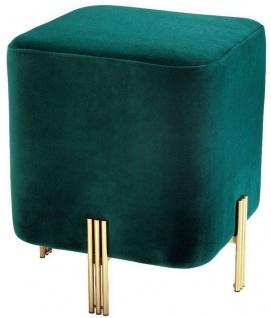 Casa Padrino Luxus Sitzhocker 40 x 40 x H. 45 cm - Verschiedene Farben - Edler Samt Hocker - Luxus Möbel