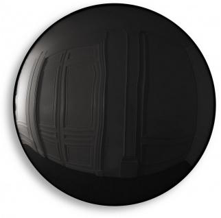 Casa Padrino Luxus Spiegel Schwarz Ø 91 cm - Runder konvexer Wandspiegel - Luxus Möbel