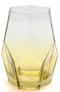 Casa Padrino Luxus Glas Vase / Blumenvase Gelb Ø 17, 5 x H. 25, 5 cm - Luxus Kollektion