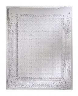 Casa Padrino Art Deco Vintage Spiegel Silber 78 x H. 101 cm - Antik Stil Wandspiegel