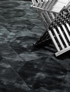 Casa Padrino Luxus Wohnzimmerteppich Schwarz - Verschiedene Größen - Handgewebter Luxus Viskose Teppich