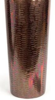 Casa Padrino Luxus Deko Vase Kupferfarben Ø 20 x H. 74 cm - Designer Aluminium Blumenvase - Vorschau 3