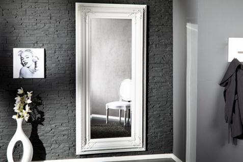 Casa Padrino Barock Wandspiegel Weiß Höhe 180 cm, Breite 95 cm - Edel & Prunkvoll