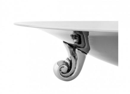 Casa Padrino Luxus Servierplatte Nickel Finish 45 x H. 10, 5 cm - flache Schale - Vorschau 2
