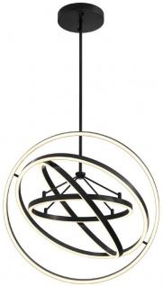 Casa Padrino Luxus LED Kronleuchter Bronzefarben Ø 90 x H. 102 cm - Moderner verstellbarer Wohnzimmer Kronleuchter - Luxus Qualität