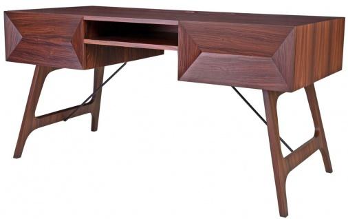 Casa Padrino Luxus Rosenholz Schreibtisch mit 2 Schubladen Braun 150 x 70 x H. 76 cm - Luxus Büromöbel
