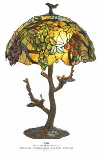 Tiffany Hockerleuchte Durchmesser 42cm, Höhe 64cm, Schirm oval TT120 Leuchte Lampe