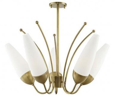 Casa Padrino Designer Kronleuchter Antik Messing / Weiß Ø 69 x H. 43 cm - Moderner Kronleuchter - Luxus Qualität