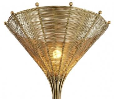 Casa Padrino Luxus Tischleuchte Vintage Messingfarben Ø 41 x H. 83, 5 cm - Wohnzimmerlampe - Vorschau 2
