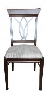 Casa Padrino Biedermeier Esszimmer Stuhl ohne Armlehne Beige / Braun - Möbel Restaurant Hotel Gastronomie Bestuhlung - Vorschau 1