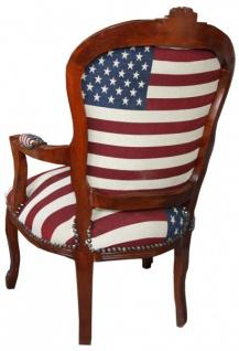 Casa Padrino Barock Salon Stuhl Mod1 USA Design / Mahagoni Braun - USA Stil - Vorschau 2