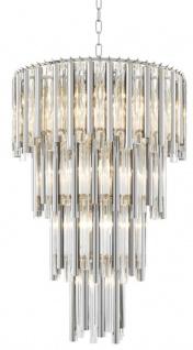 Casa Padrino Luxus Kronleuchter Silber Durchmesser 57 x H. 88 cm - Hotel Möbel