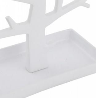 Casa Padrino Designer Schmuckhalterbaum groß weiß lackiert aus Aluminium, Höhe 32 cm, Breite 22 cm - Schmuckständer, Schmuckbaum - Vorschau 3