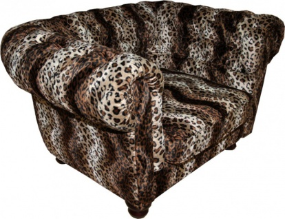 Casa Padrino Limited Edition Designer Chesterfield Sessel Leopard Club Möbel - Vorschau 2