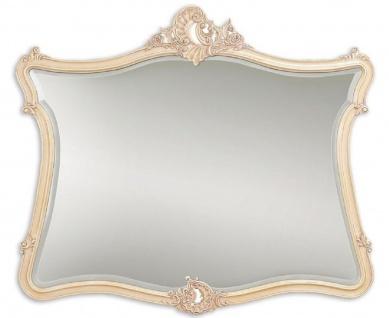 Casa Padrino Luxus Barock Spiegel Creme / Beige 146 x 6 x H. 125 cm - Mahagoni Wandspiegel im Barockstil - Antik Stil Garderoben Spiegel - Wohnzimmer Spiegel - Barock Möbel