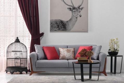 Casa Padrino Lounge Wohnzimmer 3er Sofa Miami Grau - Hotel Möbel
