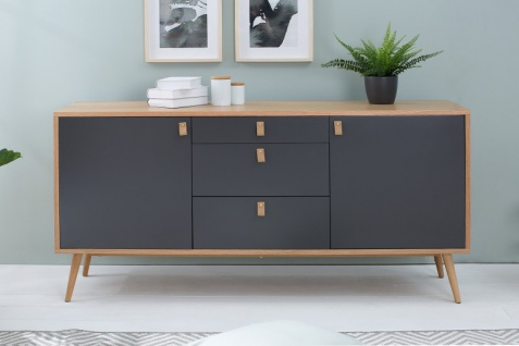 Casa Padrino Designer Kommode - Sideboard 150cm x 40cm x H.75cm - Konsolen Tisch - Hotel Möbel - Vorschau 3