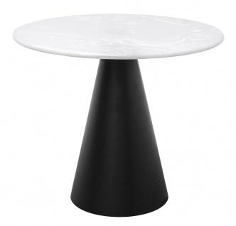 Casa Padrino Designer Couchtisch Schwarz / Weiß 70 x H. 60 cm - Wohnzimmertisch