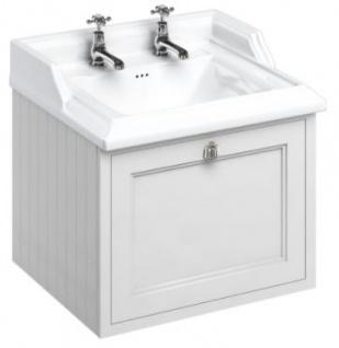 Casa Padrino Luxus Hänge-Waschschrank mit Schublade - Antik Stil Waschtisch