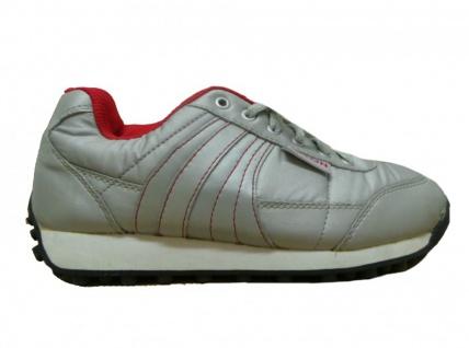 Nylon Sport Schuhe Silber/Red 1 B ware