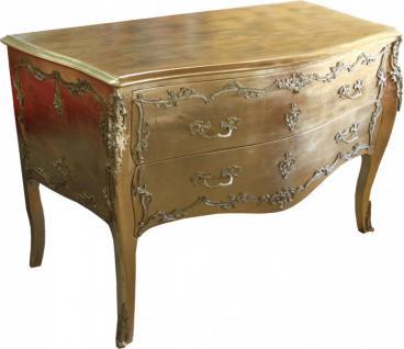 Casa Padrino Barock Kommode Gold 130 cm - Handgefertigt aus Massivholz - Limited Edition