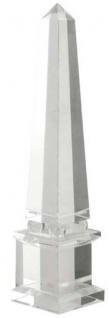 Casa Padrino Luxus Kristallglas Obelisk 11 x 11 x H. 49 cm - Designer Wohnzimmer Hotel Dekoration