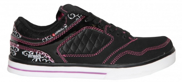 Airwalk Skateboard Damen Schuhe Collar Lace Black/Pink - Sneakers Shoes