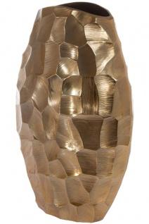 Casa Padrino Luxus Metall Vase Gold 19 x 9 x H. 30 cm - Luxus Deko Blumenvase - Vorschau 2
