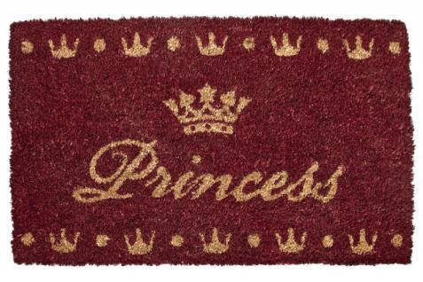Designer Fußmatte Princess, Länge 70 cm, Breite 40 cm, Höhe 2 cm - Schmutzfangmatte