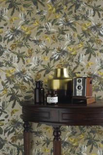 Casa Padrino Luxus Papiertapete Pflanzen Hellbraun / Mehrfarbig - 10, 05 x 0, 53 m - Tapete Mustertapete Botanisch Blumen - Vorschau 2