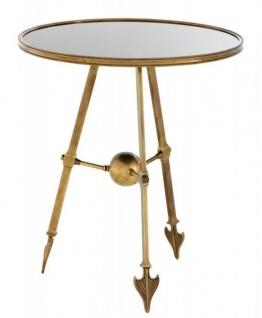 Casa Padrino Luxus Beistelltisch Vintage Messing Finish 65 x H. 74 cm - Tisch Möbel