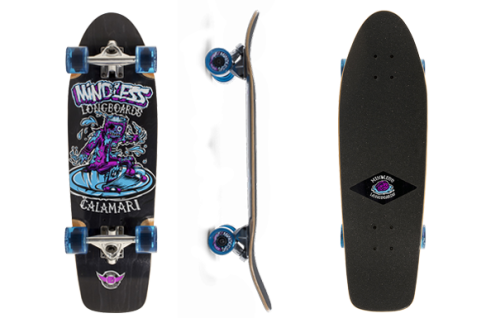 Mindless Calamari II Oldschool Skateboard Profi Komplettboard Street Cruiser Black mit Koston Kugellagern - Old School Komplett Skateboard