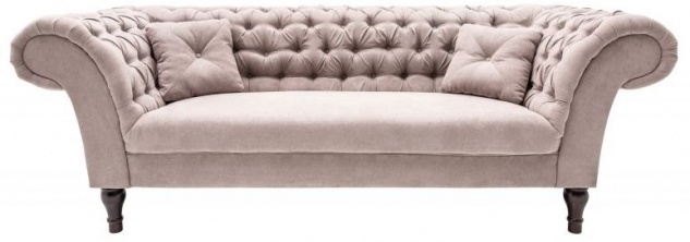 Casa Padrino Chesterfield Sofa in Greige 230 x 90 x H. 80 cm - Designer Chesterfield Sofa