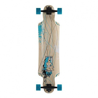 Flying Wheels Longboard Cruiser Mustang Sally Skyblue Komplettboard 38.5 x 9.5 inch Carver - Special Edition mit Koston Kugellagern