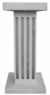 Casa Padrino Jugendstil Deko Sockel Grau 29 x 29 x H. 67 cm - Beton Sockel mit Streifen