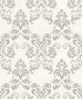 Casa Padrino Barock Textiltapete Beige / Silber 10, 05 x 0, 53 m - Deko Accessoires im Barockstil