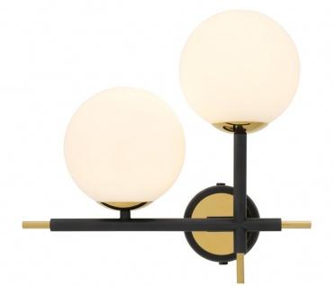 Casa Padrino Luxus Wandleuchte Schwarz / Gold / Weiß 35 x 17 x H. 35 cm - Hotel & Restaurant Lampe