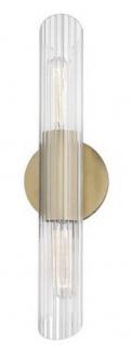 Casa Padrino Luxus Wandleuchte Antik Messingfarben 12, 1 x 8, 9 x H. 43, 8 cm - Wohnzimmer Wandlampe
