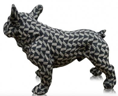 Casa Padrino Deko Bulldogge Schwarz / Weiß 43 x 23 x H. 34 cm - Luxus Wohnzimmer Accessoires - Vorschau 3