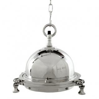 Casa Padrino Industrie Leuchte - Luxus Edelstahl Hängeleuchte vernickelt 33 x 30 cm