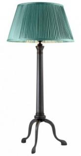Casa Padrino Art Deco Luxus Tischleuchte Bronze Durchmesser 29 x H 67 cm - Luxury Collection