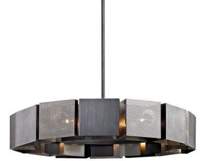 Casa Padrino Luxus Kronleuchter Graphit / Silber Ø 92, 1 x H. 18, 4 cm - Luxus Kollektion