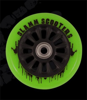 Slamm Profi Scooter Rolle NY Core Green 110mm / 88A (1 Rolle) inkl Koston Abec 7 Kugellager