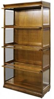 Casa Padrino Luxus Bücherschrank mit 4 Glastüren und LED Beleuchtung Hellbraun 90 x 39 x H. 182 cm - Büroschrank - Vorschau 2