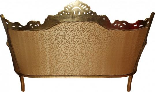Casa Padrino Barock Sofa 3er Master Gold Muster /Gold- Antik Möbel - Vorschau 2