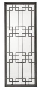 Casa Padrino Luxus Designer Wandspiegel Black Nickel Finish 220 x 85 cm - Luxury Hotel Collection