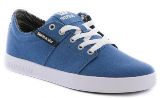 Supra Skateboard Schuhe Stacks II Stone Blue / Black-White - Sneakers Sneaker