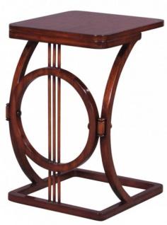 Casa Padrino Art Deco Mahagoni Snack Tisch / Beistelltisch Braun 40 x 40 x H. 62 cm - Luxus Möbel